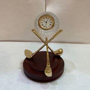 Crystal Goldball Clock Stand